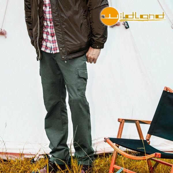 WildLand 男RE彈性直筒多袋保暖長褲0A22396 (M~3L) / 城市綠洲 (荒野.彈性纖維.休閒.時尚)