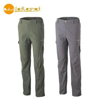 【WildLand 】0A31326男彈性口袋透氣抗UV長褲(M~3L) / 城市綠洲 (荒野.防曬.彈性.透氣.耐磨.抗紫外線)