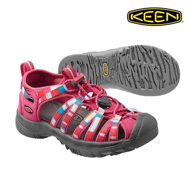 KEEN 織帶涼鞋Whisper 1012062《童款》/ 城市綠洲 (KID,輕量,戶外休閒鞋,運動涼鞋)