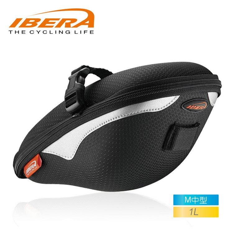 IBERA EVA無扣具座墊袋IB-SB9(M) / 城市綠洲(台灣製造.輕量化.自行車.腳踏車.反光飾條)