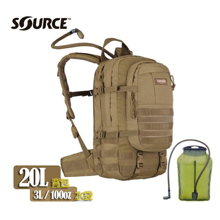 Source Assault 軍用水袋背包 4010430203 狼棕 /城市綠洲(以色列原裝進口)