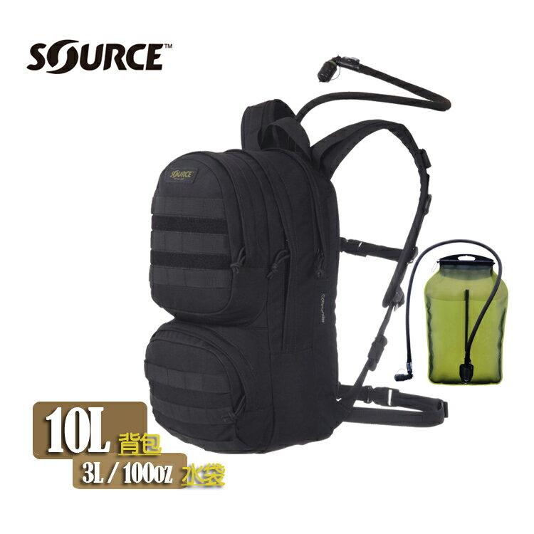 Source Commander軍用水袋背包 4010530103 黑色 /城市綠洲(以色列原裝進口)