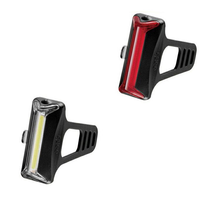 guee Cob-X USB智能前+後燈組合/城市綠洲(單車燈.LED自行車燈.車前燈.車尾燈.腳踏車前後燈)