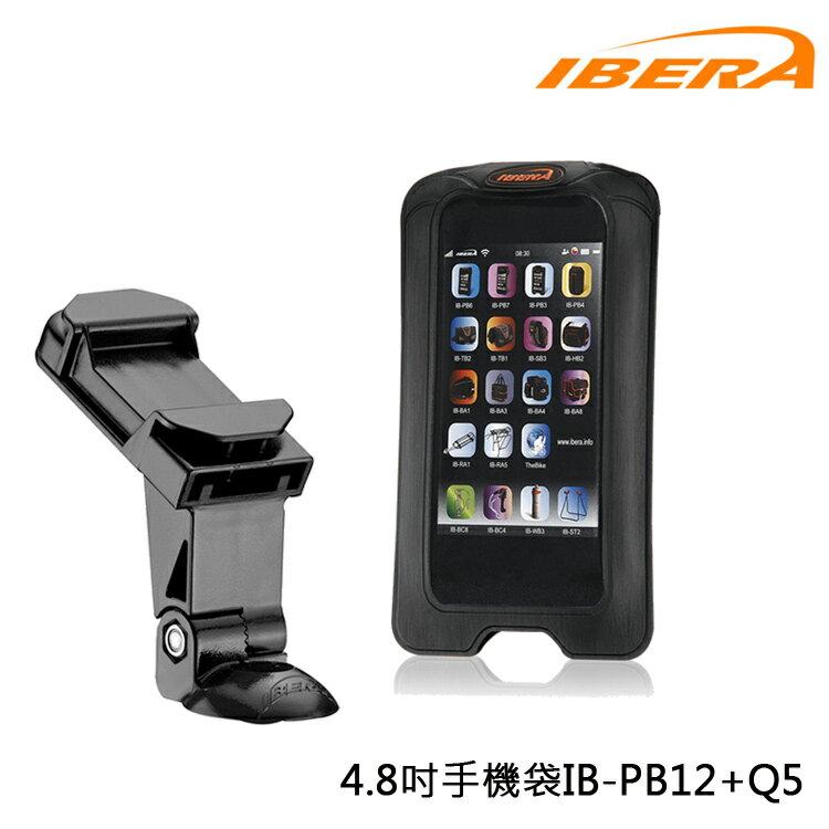 IBERA 4.8吋手機袋IB-PB12+Q5 /城市綠洲(台灣製造.輕量化.自行車.腳踏車.透明觸碰屏.附扣具)