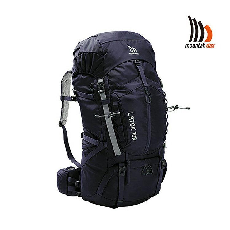 mountain dax LATOK 70R排熱背包DM-20913R/城市綠洲(登山背包.登山包.縱走.透氣.雨罩.70L)