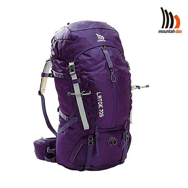 mountain dax LATOK 70S排熱背包DM-20913S 女款/城市綠洲(登山背包、登山包、縱走、透氣、雨罩、70L)