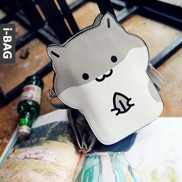B.A.G*現+預*【BB1487】日系倉鼠造型斜背手機袋(現+預)-3色