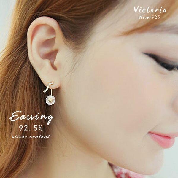 S925純銀 高貴典雅設浪漫風格華麗款 耳環~維多利亞160842