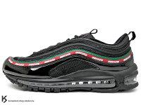 慢跑_路跑周邊商品推薦到2017 限量登場 經典復刻慢跑鞋 球鞋名舖 UNDEFEATED x NIKE AIR MAX 97 OG UNDFTD 1997 全黑 黑紅綠 古馳 亮皮 全氣墊 子彈 慢跑鞋 '97 15 周年紀念 (AJ1986-001) !
