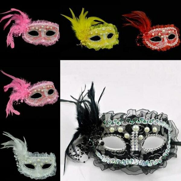 塔克玩具百貨:半臉威尼斯珍珠面具面具面罩威尼斯花紋包布面具眼罩cosplay表演舞會【塔克】