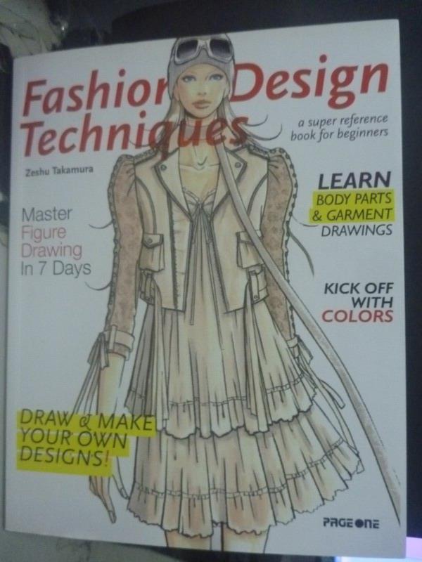 ~書寶 書T8/廣告_ZCJ~Fashion Design Techniques_Zesh
