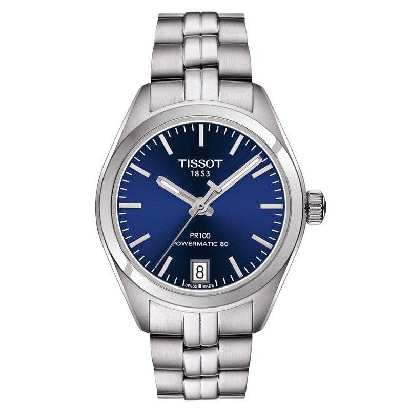 TISSOT 天梭T1012071104100 PR100 Powermatic 80 經典機械腕錶-藍 33mm - 限時優惠好康折扣