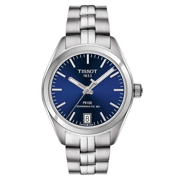 TISSOT天梭T1012071104100PR100Powermatic80經典機械腕錶-藍33mm