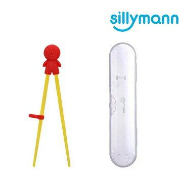 【淘氣寶寶】韓國 Sillymann 100%鉑金矽膠兒童左右手學習筷(附防塵盒)【保證原廠公司貨】