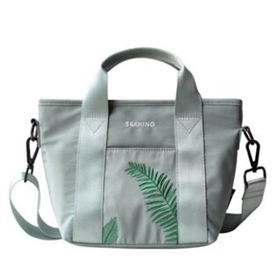 手提包刺繡肩背包-簡約棕櫚葉休閒百搭女包包73st26【獨家進口】【米蘭精品】
