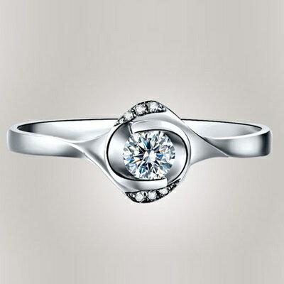 925純銀戒指鑲鑽開口戒-日韓時尚精美璀璨情人節生日禮物女飾品73lz52【獨家進口】【米蘭精品】