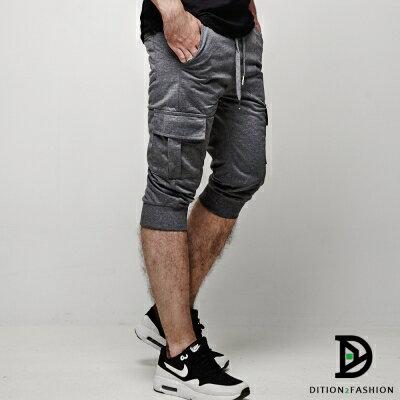 DITION 運動ORIGINAL側邊口袋抽繩棉褲 健身