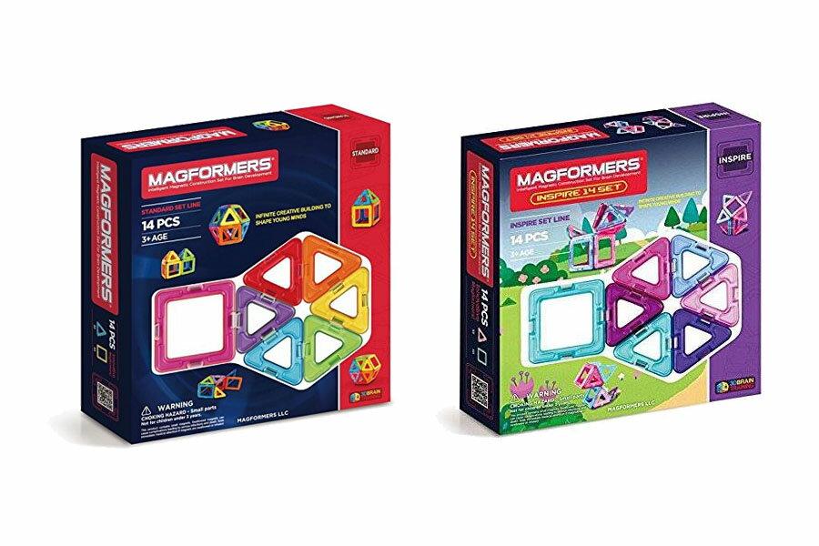 《★美韓 Magformers 》磁性建構片-14片裝 入門款 美國版 美國代購 平行輸入 溫媽媽