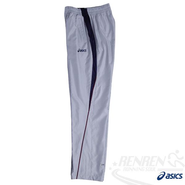 ASICS 亞瑟士 男風衣長褲絨裡(珍珠白色) 運動套裝下 吸溼散熱.防潑水。