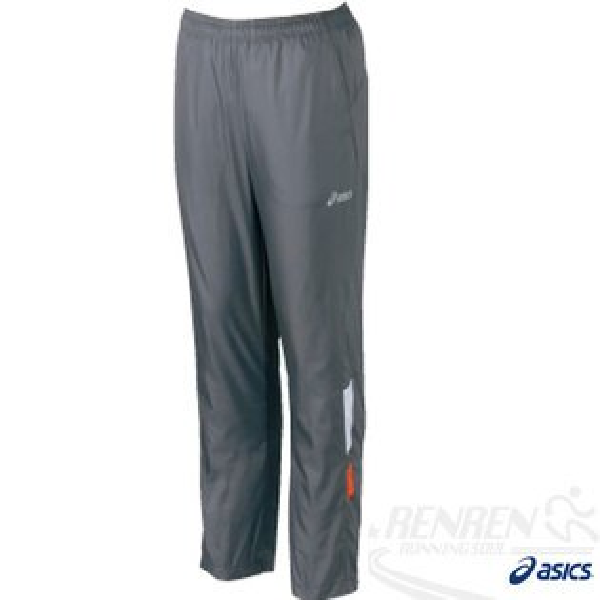 ASICS亞瑟士男路跑長褲(灰色)運動套裝下吸溼散熱.防潑水,L.XL。