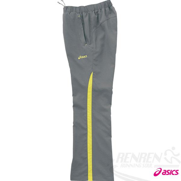 ASICS亞瑟士女平織長褲(灰色)運動套裝下吸溼發熱.防潑水。