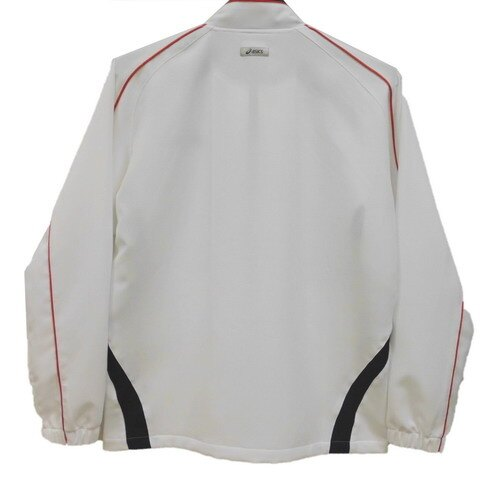 ASICS 亞瑟士 男排汗反光運動外套(白) 平織微彈性立領外套