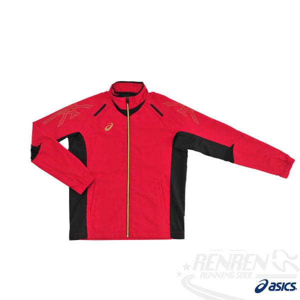 ASICS亞瑟士彈性平織外套(紅)