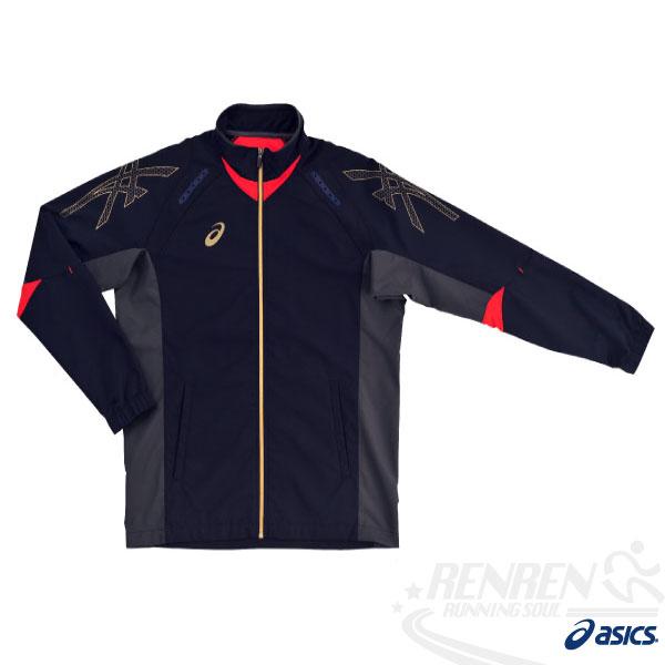 ASICS亞瑟士彈性平織外套(丈青)