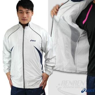 ASICS 亞瑟士 男 平織運動外套(銀白色) 外層防風防潑水 內層細孔網布