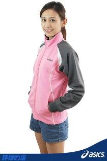 ASICS亞瑟士女抗UV排汗針織外套(粉紅*灰)
