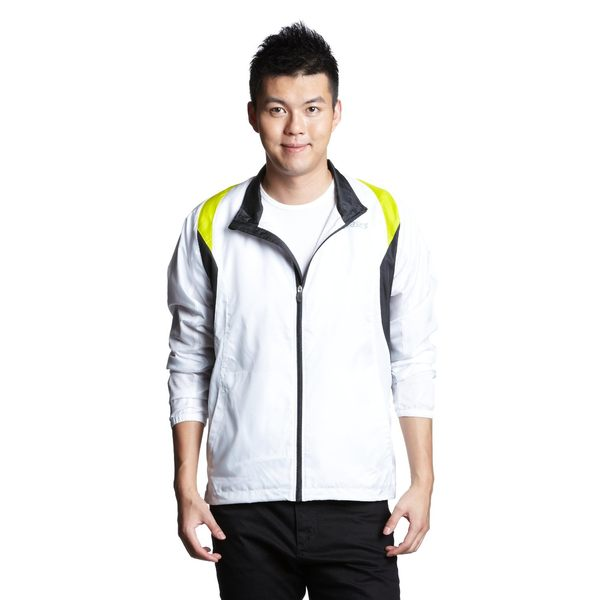 ASICS 亞瑟士 男慢跑風衣外套(白XL/XXL) 平織運動外套