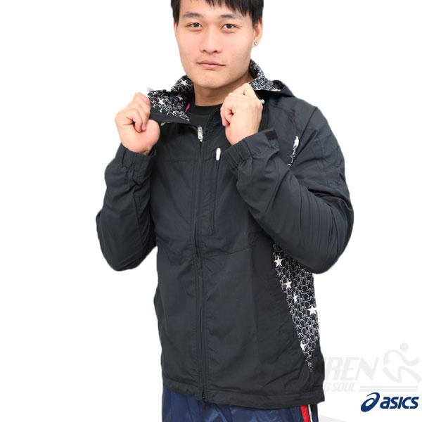 ASICS亞瑟士男慢跑風衣外套(深藍色)運動外套輕量防風