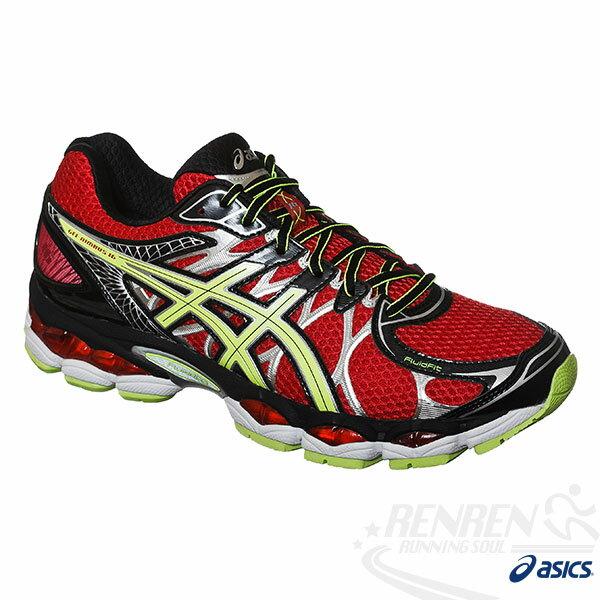 ASICS亞瑟士 GEL-NIMBUS 16 男高緩衝慢跑鞋(紅*綠)