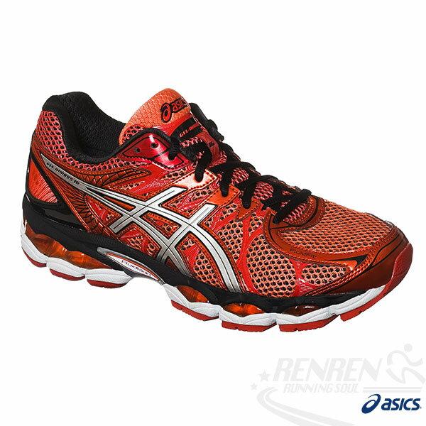 ASICS亞瑟士 GEL-NIMBUS 16(4E) 男寬楦高緩衝慢跑鞋(橘)