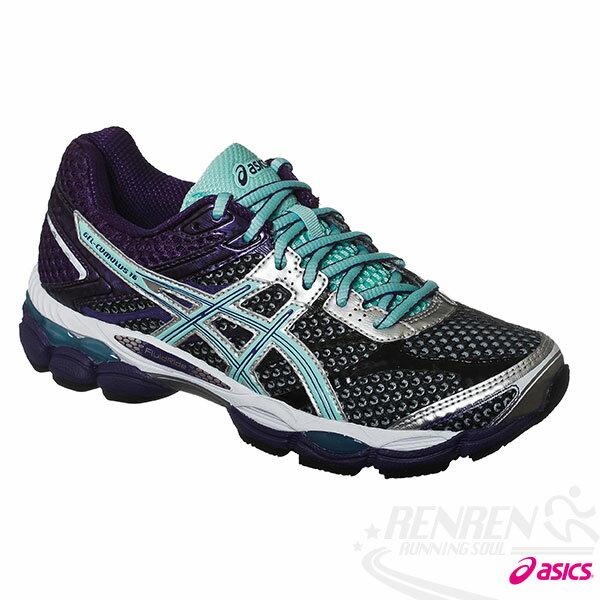 ASICS亞瑟士 GEL-CUMULUS 16 女高緩衝慢跑鞋(紫*水藍)