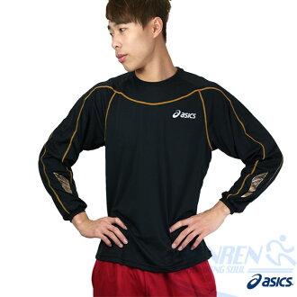 ASICS亞瑟士 背部保暖長袖T恤(黑) 翼系列運動長T