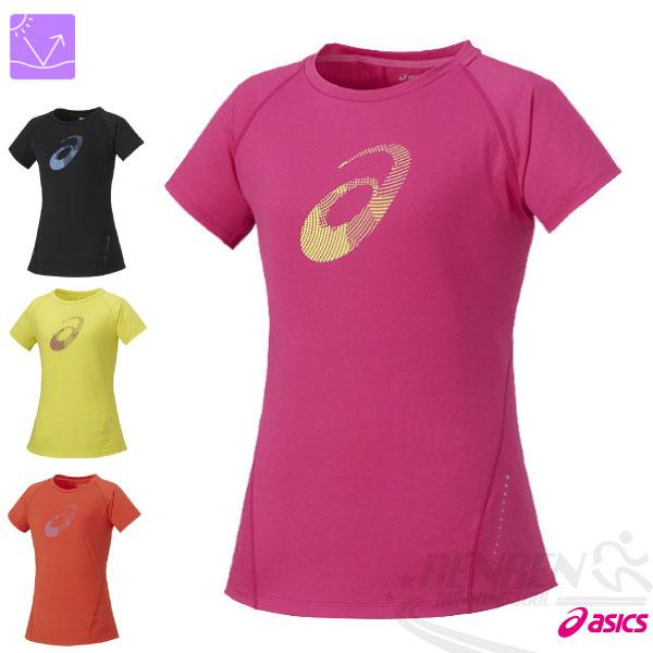 ASICS亞瑟士女慢跑LOGO短袖T恤(粉紅)微腰身修飾