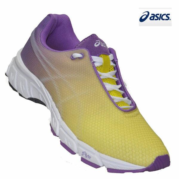*特殺7折* ASICS亞瑟士 女用輕量慢跑、休閒兩用鞋(紫金漸層/26號)。T162N-0136 胖媛快馬免運