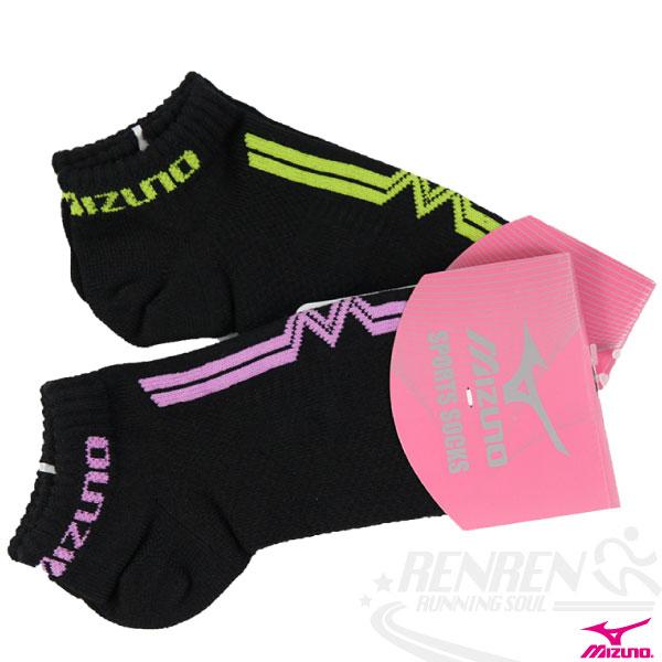 MIZUNO美津濃 女運動薄底踝襪(二色)。D2TX4203