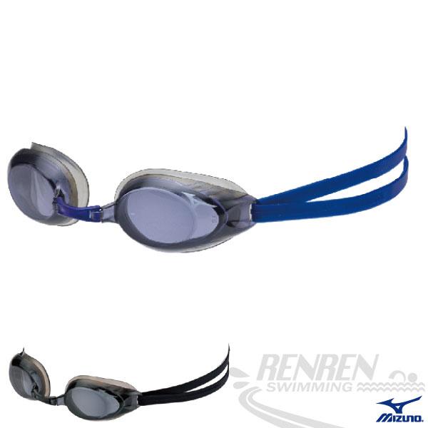 MIZUNO美津濃 近視泳鏡(靛藍) 防霧 抗UV度數泳鏡