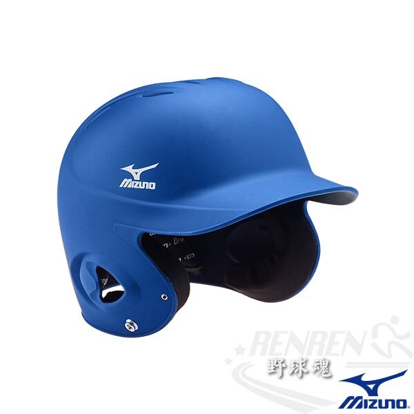 MIZUNO 美津濃 成人用棒球打擊頭盔(寶藍) 附下巴扣帶