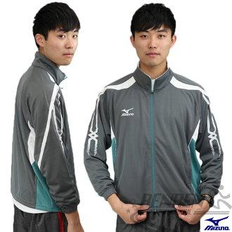 MIZUNO 美津濃 針織運動外套(灰*白*綠) 透氣快乾抗UV 彈性佳