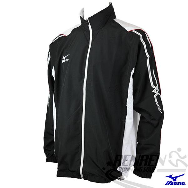 MIZUNO美津濃 平織運動外套(黑) 防風夾克。