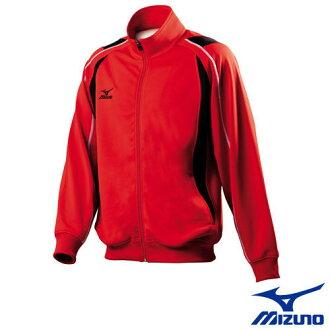 MIZUNO 美津濃 男針織運動外套(紅) 吸汗速乾。