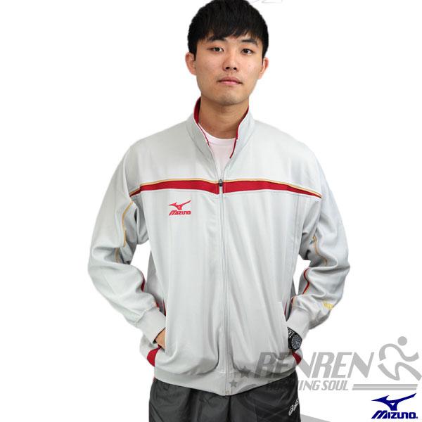 MIZUNO 美津濃 針織運動外套(灰*紅) 透氣快乾 彈性佳