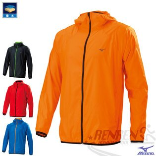 MIZUNO美津濃路跑風衣(橘)超輕量防風防潑水外套2015年新款