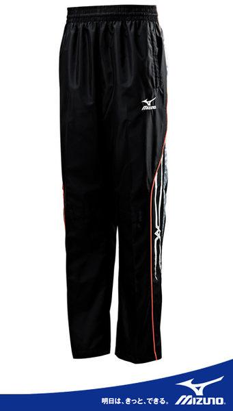 MIZUNO 美津濃 男平織長褲(黑2XL) 防潑水風褲