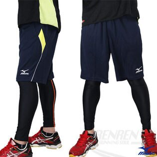 MIZUNO美津濃針織運動短褲(藍黃)水區游泳系列