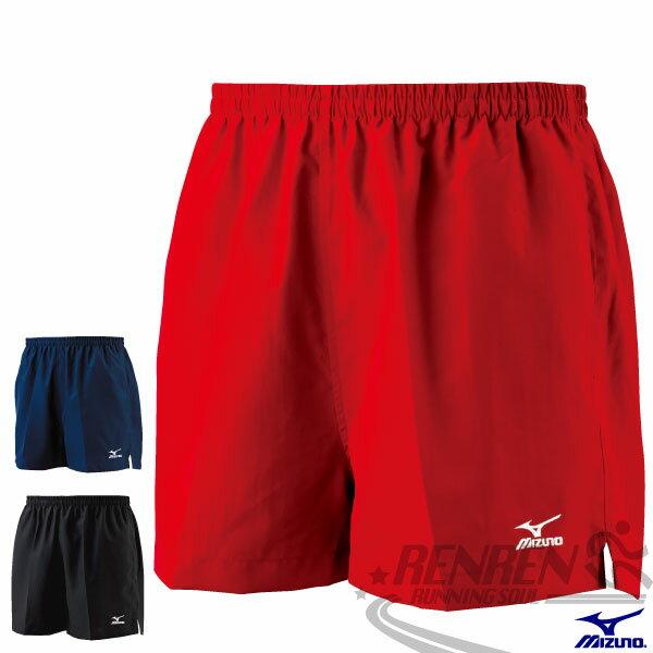 MIZUNO 美津濃 輕質路跑褲(紅) 背部口袋 四分運動短褲