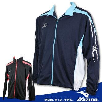 MIZUNO美津濃 針織運動外套(藍XXL) 吸濕排汗透氣